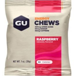 GU Energy Chews - Gominolas Chomps con 40 mg Cafeína 1 bolsa x 4 unid