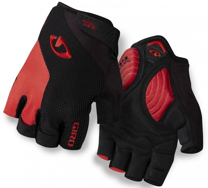 Giro Guantes Ciclismo Strate Dure Supergel Negro/Rojo