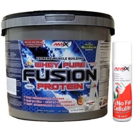 Pack Amix Whey Pure Fusion 4 kg + Amix No Fat & Cellulite Gel 75 ml