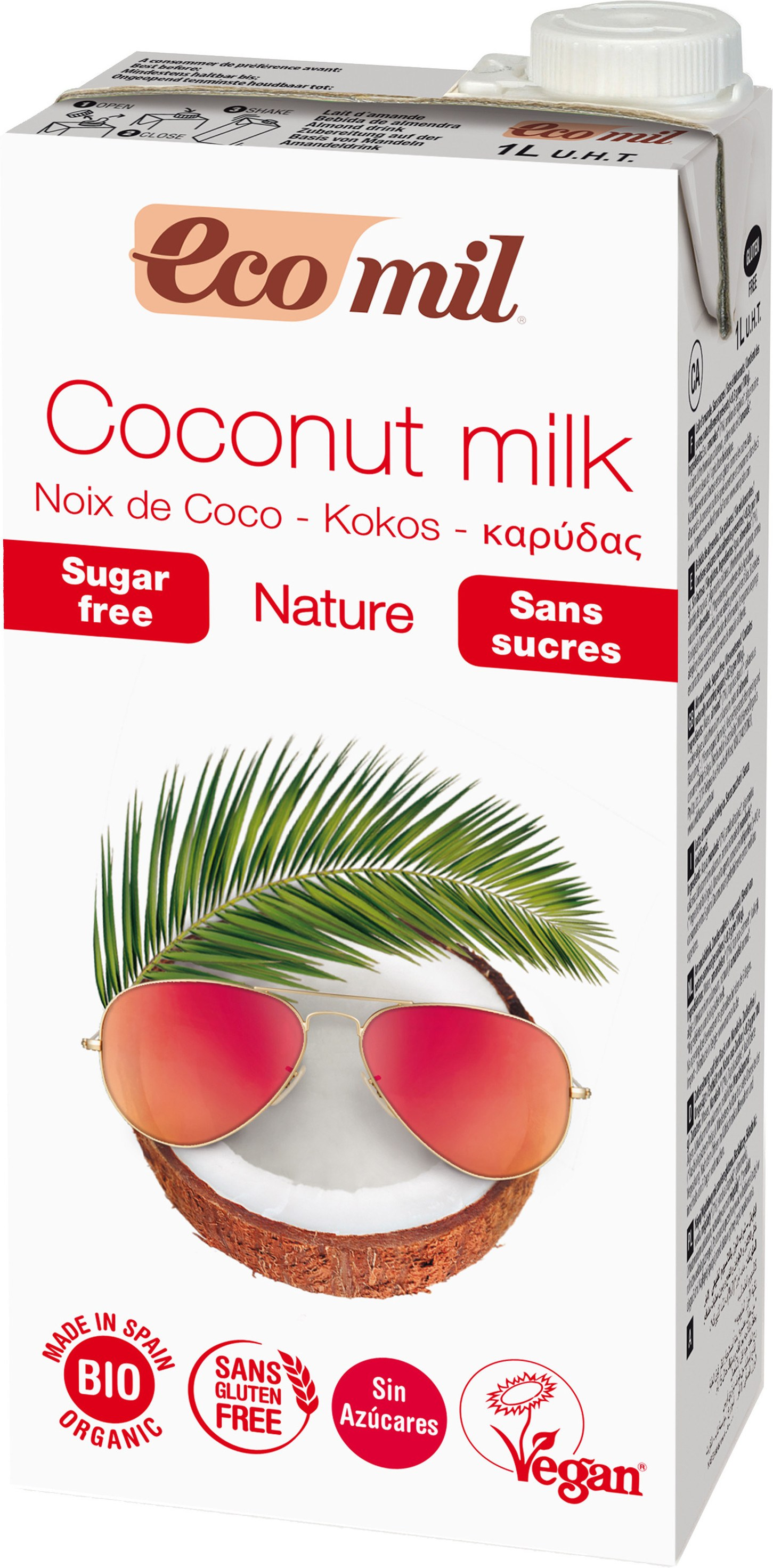 Nutriops Ecomil Coconut Nature Bio 1 Litro
