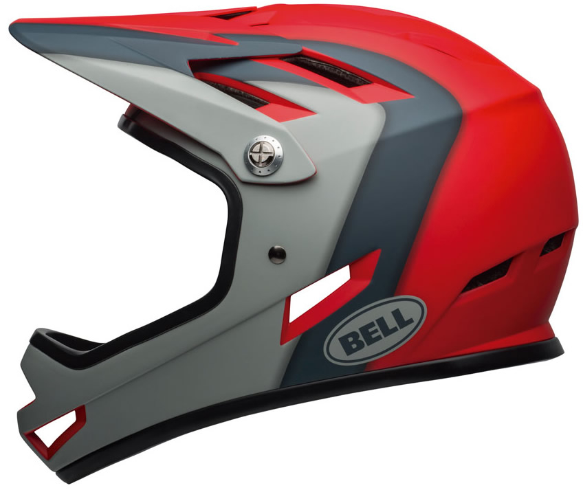 Bell Casco Sanction Negro Brillo - Rojo 2020