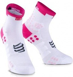 Compressport Calcetines ProRacing V3.0 Run Hi Ironman 2017 Rosa