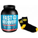 Pack Gold Nutrition Fast Recovery 1 Kg + Calcetines Running Negro - Amarillo