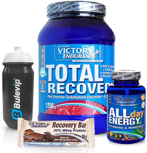 Pack Victory Endurance - Chema Martinez (Total Recovery + All Day + Recovery Bar + Bidon)