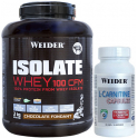 Pack Weider Isolate Whey 100 CFM 2 kg + L-Carnitina Capsules 45 caps