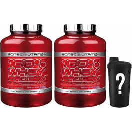Pack Scitec Nutrition 100% Whey protein Professional 2 botes x 2,35 kg