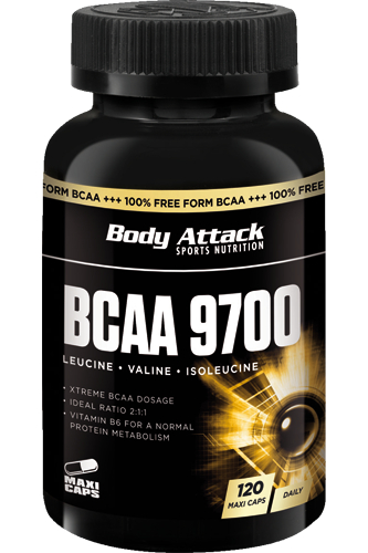 Body Attack Bcaa 120 Caps.