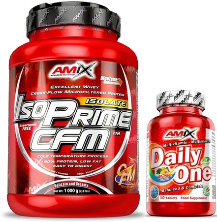 Pack Amix IsoPrime CFM Isolate 1 kg + Daily One 30 caps