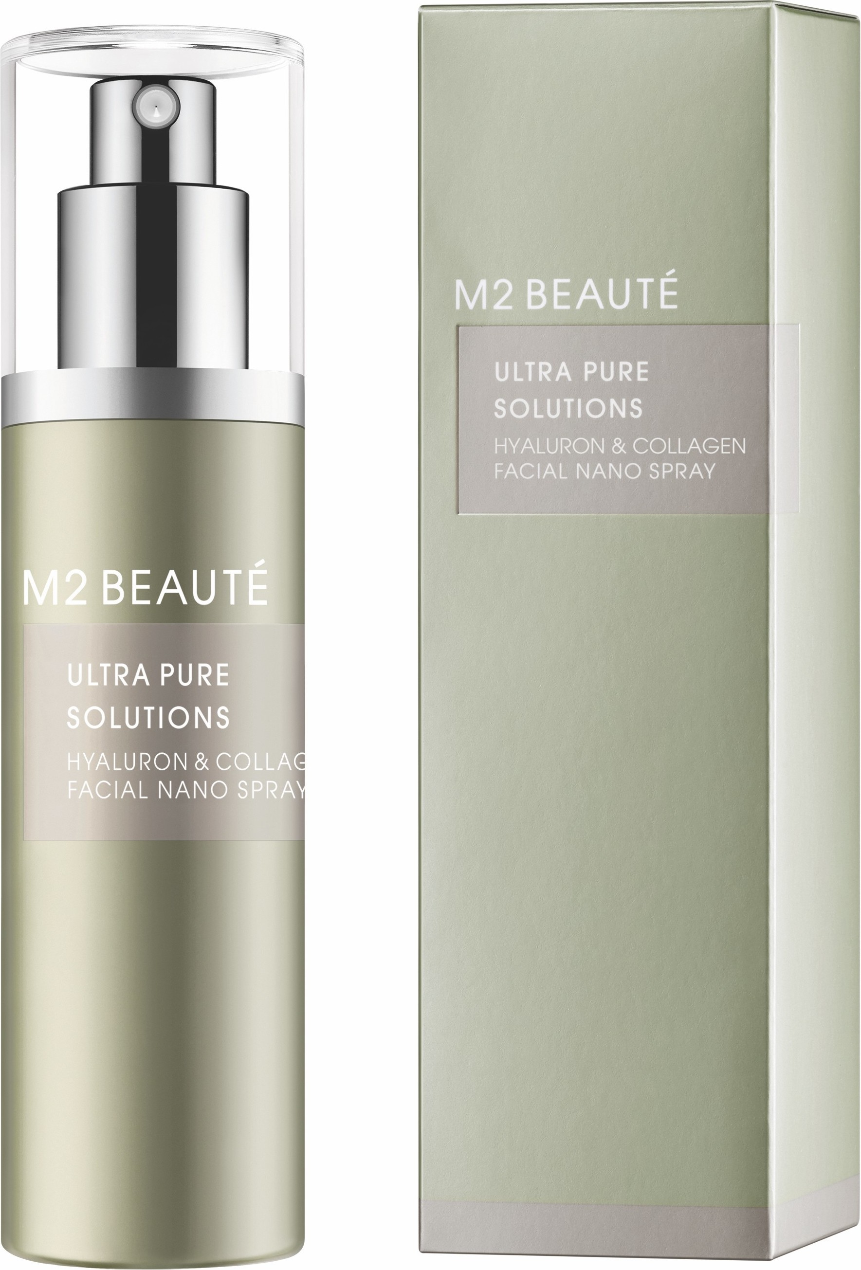M2 Beauté Ultra Pure Solutions Hyaluron&collagen Facial Nano Spray Mujer